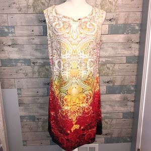 Haani summer boho tank dress sz L             0051